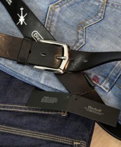 Ремень мужской кожаный джинсовый Dierhoff ДРМ 530/40-125