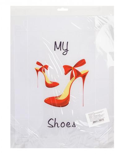 """Коробка для хранения женской обуви 30*18*10 см """"Босоножки на"""