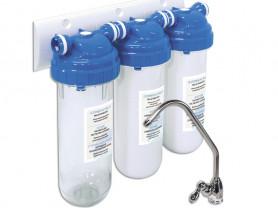 Трехступенчатая система очистки воды от хлора