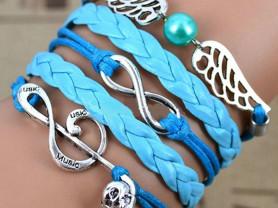 Винтажные кожаные браслеты