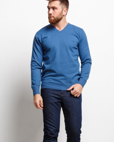 Мужской пуловер 16559 синий