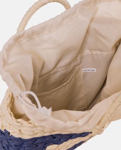 Соломенная сумка с красивым плетением MR 2222 2373 0220 Blue