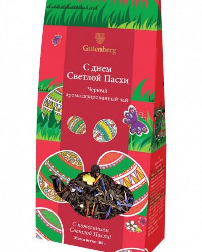 """Чай чёрный ароматизированный """"С днём Светлой Пасхи"""", 100 г"""