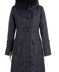 05-1023 Куртка зимняя Плащевка Темно-серый