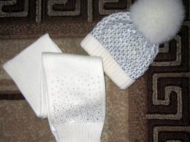 Комплект шапочка catya IV (50-54), шарф laura