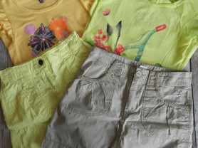 2 футболки+2 юбки 134-140