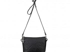 Новая черня кожаная сумка Gaude оригинал