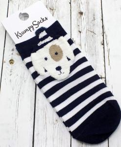 "Короткие женские носки ""Bear and dog"""