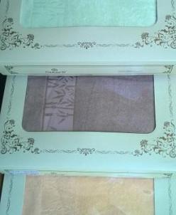 Полотенце  махровое в большой коробке Бамбук 45*90+70*140