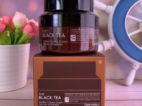 Антивозрастной крем с чёрным чаем Tony Moly The Bl