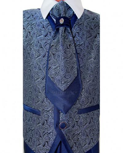 Костюм на выпускной для мальчика, 4 предм, т-синий, арт.56