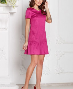 Платье Грэйс цвет фуксия (замша) (П-112-6)