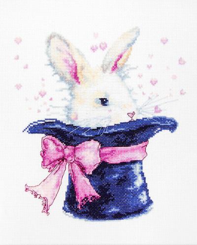 Luca-S Наборы для вышивания  B2302 Кролик 18,5х20,5 см