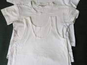 Комплект футболки/майка белые. Хлопок.