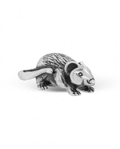 Мышь кошельковая из черненого серебра  Артикул: М-036ч