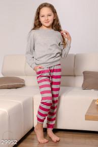 Трикотажная пижама для девочек