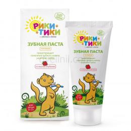 Рики-Тики Детская зубная паста со вкусом клубники 50мл