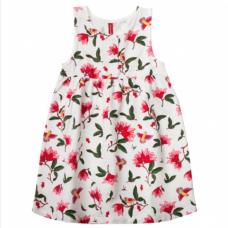 Сарафан для девочки с цветочным принтом