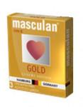 Презервативы Masculan Ultra Gold с золотым напылением и аром