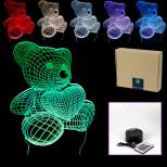 """USB-3D светильник на пульте управления, """"Мишка с сердцем"""""""