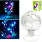 LED-лампа разноцветная с гирляндой внутри