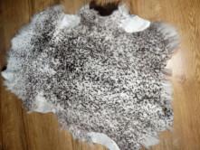 Шкура овечья пятнистая серая
