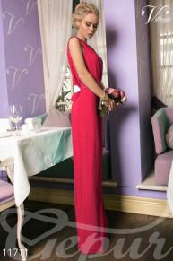 Легкое платье в пол с ажурными рукавами