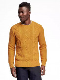 Textured Cable-Knit Sweater for Men