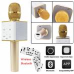 Беспроводной караоке микрофон Q7 золото