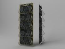 Кофр для одежды, 5 карманов, 105х40см