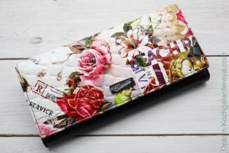 Большой женский кожаный кошелек Sergio Valentini СВ 8011-035