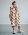 Платье с капюшоном Бабочки в летних цветах 2