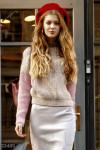 Трехцветный свитер в стиле oversize