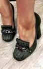 Туфли гуччи   оливка