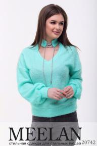 Женский свитер 20742 ментоловый
