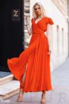 Длинное платье на запа́х