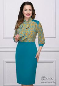 Платье Деловой подход (бирюза)