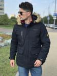 Мужская куртка Е82524-3 темно-синяя