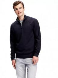 Mock-Neck 1/4-Zip Pullover for Men