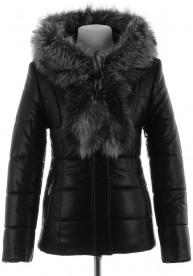 Зимняя куртка на верблюжьей шерсти из PU-кожи KEL-1690