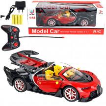 Машинка коллекционная на пульте д\у Bugatti кабриолет 1:14