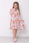 Платье Амалия астры оранж