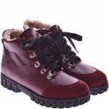 Подростковые кожаные ботинки (байка/экомех/цигейка)