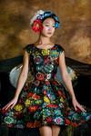 Нарядное платье для девочки модель 601 парча цвет мультиколо