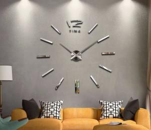 Большие настенные часы Серебро