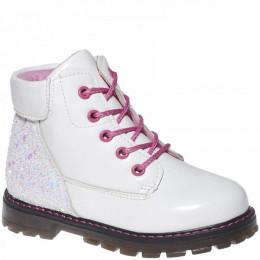 7641-02 бел Ботинки деми для девочек (27-32)