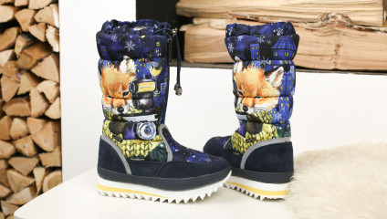 Дутики King Boots KB611BL Blau Синий