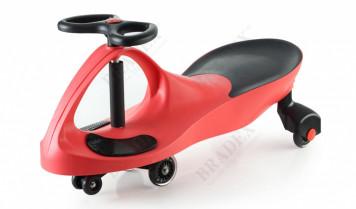 Машинка детская с полиуретановыми колесами красная «БИБИКАР»