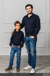Комплект рубашек папы и сына