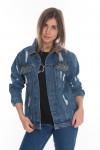 Джинсовая курточка с нашивками 20145